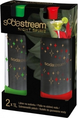 SodaStream Lahev 1l DuoPack KOKTEJL Red/Green