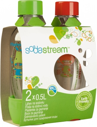 SodaStream PET lahev 1/2l TP Red/Green