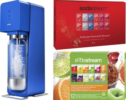 SodaStream Sada SOURCE Blue metal + 2x PP12