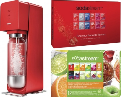 SodaStream Sada SOURCE Red metal + 2x PP12