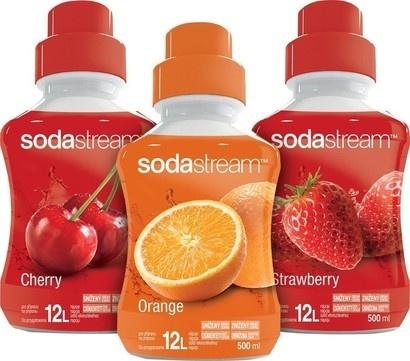 SodaStream Sirup 2+1 Pomeranč, Jahoda, Třešeň 500 ml