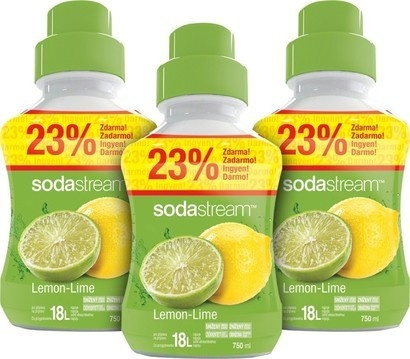 SodaStream Sirup 2+1 zdarma Lemon Lime velký 750ml