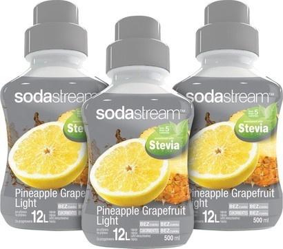 SodaStream Sirup 2+1 zdarma Stevia Ananas Grep 500ml