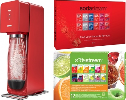 SodaStream SOURCE Red new + 2x PP12