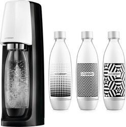 SodaStream Spirit Black & White + Lahve