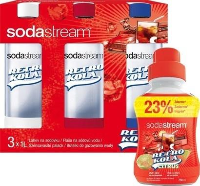 SodaStream Tripack Retro + Retro Citrus 750 ml