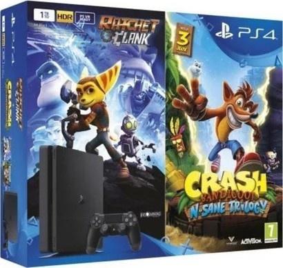 Sony PS4 500GB slim+Crash Band+Ratchet&Clank