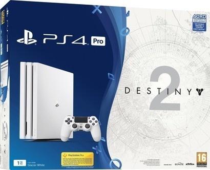 Sony PS4 Pro 1TB white + Destiny 2 + PS Plus