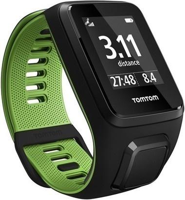 TomTom Runner 3 Music + HP (S) Black/Green