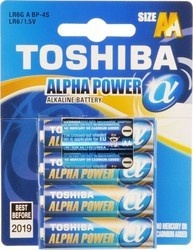 Toshiba BAT ALPHA POWER LR6 4BP AA