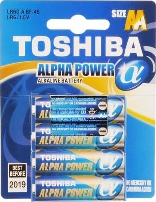 Toshiba BAT ALPHA POWER LR6 4BP AA