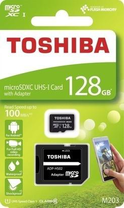 Toshiba MicroSDXC 128GB CL10 UHS1 + adaptér