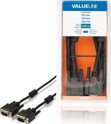 VALUELINE VLCB59000B30 VGA-VGA, 3m BK