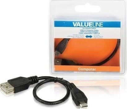 VALUELINE VLCB60570B02 USB-µUSB 0,2m