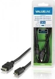 VALUELINE VLVB34500B10 HDMI-miniHDMI, 1m