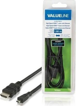 VALUELINE VLVB34700B10 HDMI-µHDMI, 1m