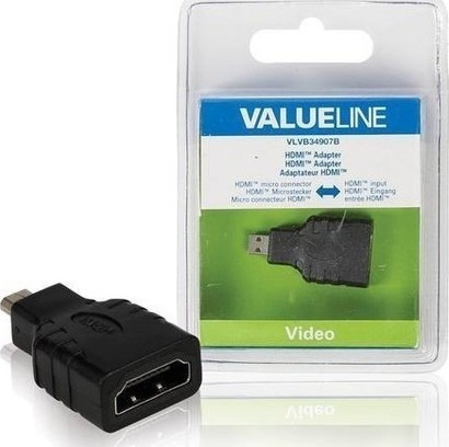 VALUELINE VLVB34907B µHDMI, adaptér