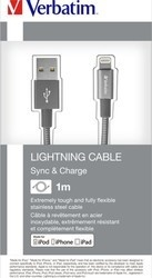 Verbatim Lightning kabel 1m S&CH šedý