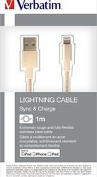 Verbatim Lightning kabel 1m S&CH zlatý