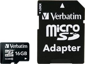 Verbatim MicroSDHC 16GB CL10 44082