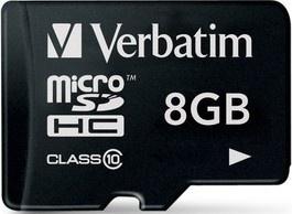 Verbatim MicroSDHC 8GB CL10 SP 44012