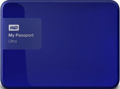 WD HDD 500GB USB3.0 Passport Ultra Blue