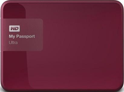 WD HDD 500GB USB3.0 Passport Ultra red