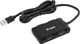 Yenkee YHB 4341BK Hub 4x USB 3.0 černý