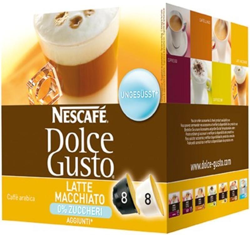 Nescafé Dolce Gusto Latté Macchiato bez cukru 8 + 8 ks