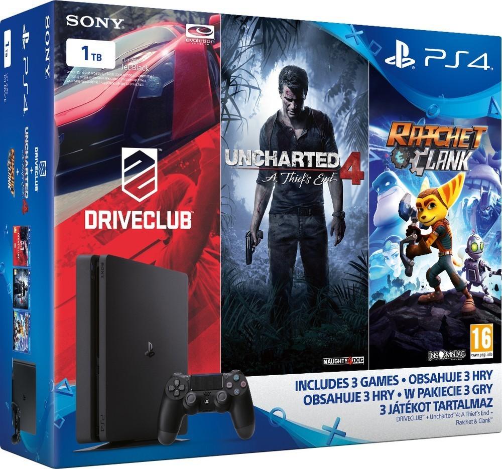 Sony PS4 1TB slim + 3 hry rodinné balení