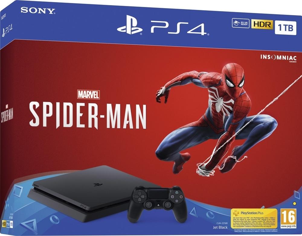 Sony PS4 1TB slim + Spider-Man Marvel