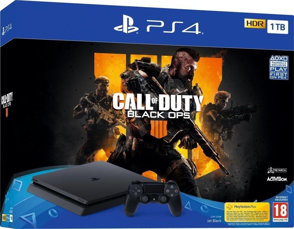 Sony PS4 Slim - 1TB + COD: Black Ops 4