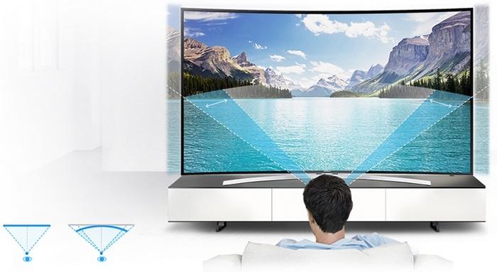 Prohnutá obrazovka Samsung H8000