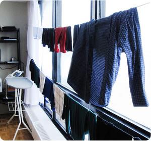 Jak sušit prádlo v zimě